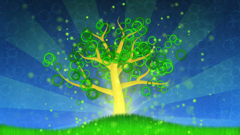 growing tree animation Stock Video Footage
