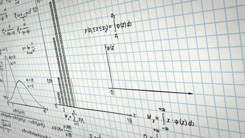 math physics formulas on squared paper panning loo Animation