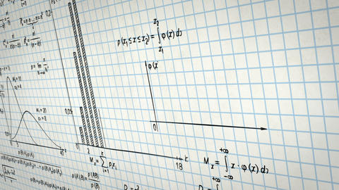 math physics formulas on squared paper panning loo Stock Video Footage