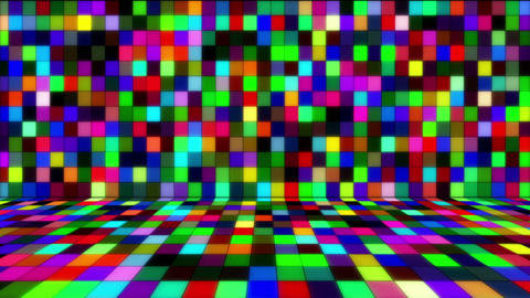 beaming multicolored squares loop Stock Video Footage