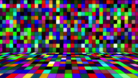beaming multicolored squares loop Animation