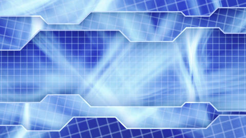 blue technology plates background loop Stock Video Footage