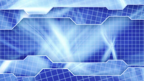 blue technology plates background loop Animation
