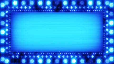 flashing lights blue banner loop Stock Video Footage