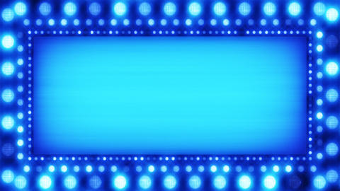 flashing lights blue banner loop Animation