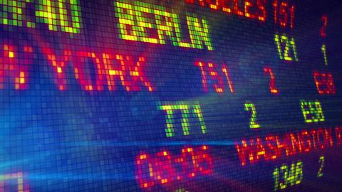 airport flight information board loop Stock Video Footage