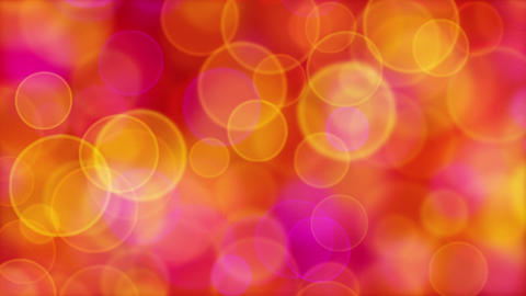 red orange pink yellow circle bokeh lights loop Stock Video Footage