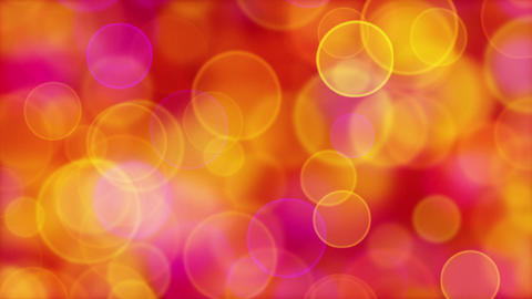 red orange pink yellow circle bokeh lights loop Animation