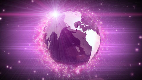 explosive globe magenta background Stock Video Footage