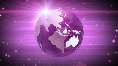 explosive globe magenta background Animation