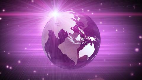 explosive globe magenta background Animation