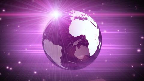 explosive globe magenta background Stock Video Footage