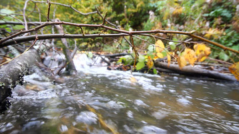 fast river with clear water Footage