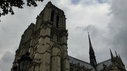 Notre-Dame de Paris also known Notre-Dame Cathedra Stock Video Footage