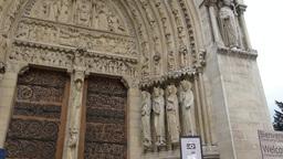 Notre-Dame de Paris also known Notre-Dame Cathedra Footage