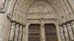 Notre-Dame de Paris also known Notre-Dame Cathedra Stock Video Footage