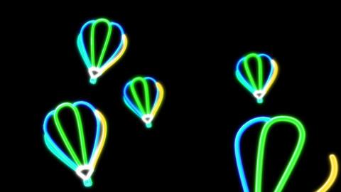 neon balloon blue Stock Video Footage