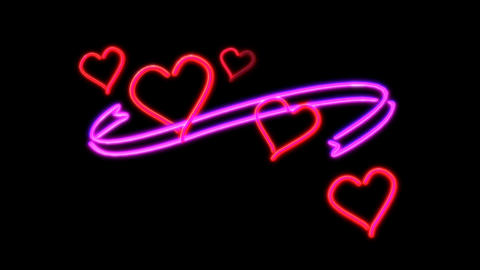 neon heart Stock Video Footage