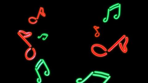 neon Music Stock Video Footage