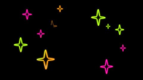 neon star color random Stock Video Footage