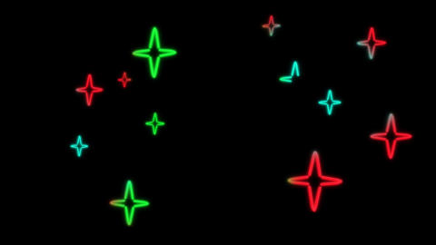 neon star color random Animation