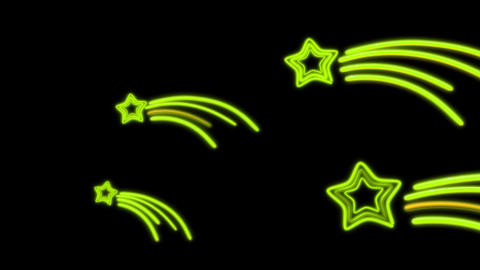 neon star tail color Stock Video Footage