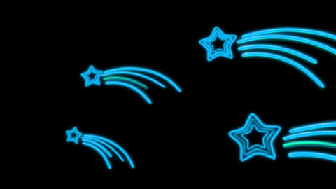 neon star tail color Animation