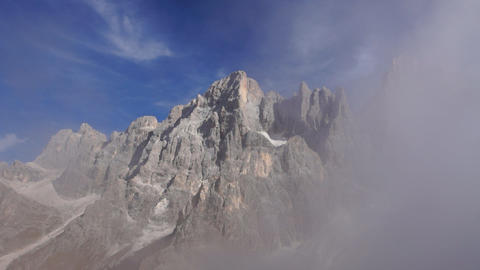 Clouds In Italian Alps, Dolomites stock footage