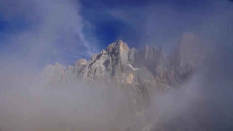 Clouds in Italian Alps, Dolomites Stock Video Footage