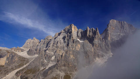 Clouds in Italian Alps, Dolomites Footage