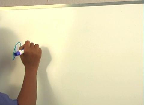 "Beautiful Nurse Writes ""Prostatectomy"" on a White Board... Stock Video Footage"