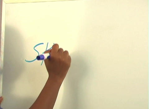 "Beautiful Nurse Writes ""Skin Graft"" on a White Board... Stock Video Footage"