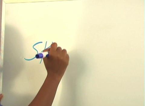 "Beautiful Nurse Writes ""Skin Graft"" on a White Board... Stock Video Footage"