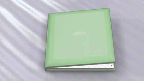 Photo Album Book 2 C ba HD Stock Video Footage