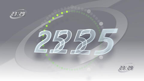 CountDown Number A2 a HD Stock Video Footage