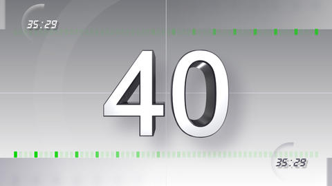 CountDown Number BB a HD Stock Video Footage