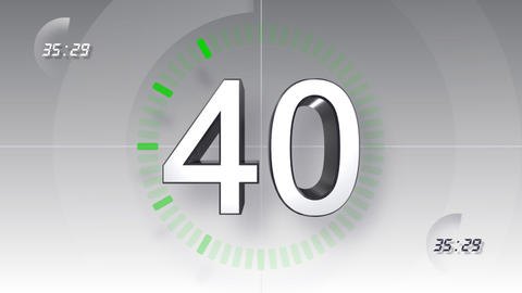 CountDown Number B a HD Stock Video Footage