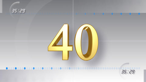 CountDown Number EE a HD Stock Video Footage