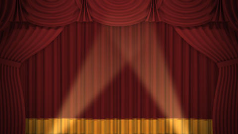 Stage Curtain A CF HD Stock Video Footage
