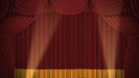 Stage Curtain A CF HD Animation