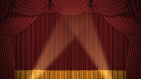Stage Curtain A OF HD Stock Video Footage