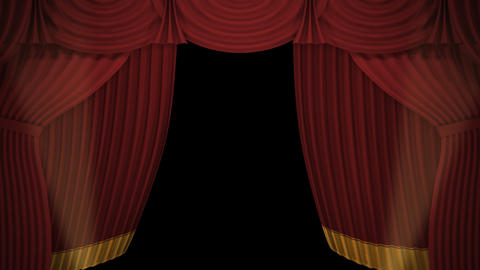 Stage Curtain A OF HD Animation