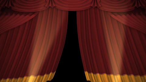 Stage Curtain A OU HD Stock Video Footage