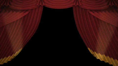 Stage Curtain A OU HD Animation