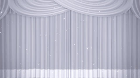 Stage Curtain B OM HD Stock Video Footage
