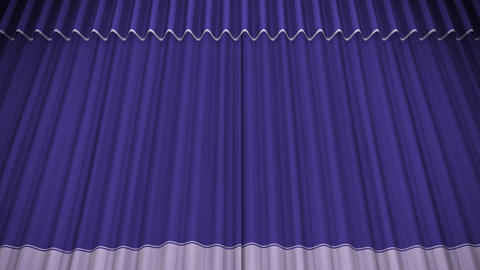 Stage Curtain C OU HD Stock Video Footage