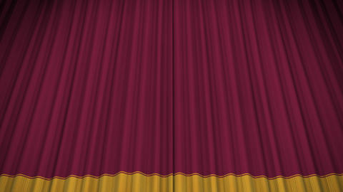Stage Curtain D CU HD Stock Video Footage