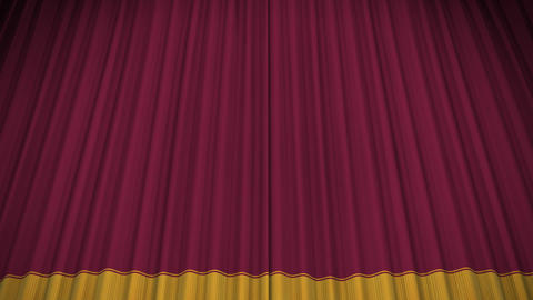 Stage Curtain D CU HD Animation