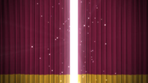 Stage Curtain D OM HD Stock Video Footage