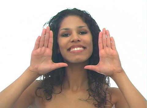 Beautiful Latina-5e Stock Video Footage